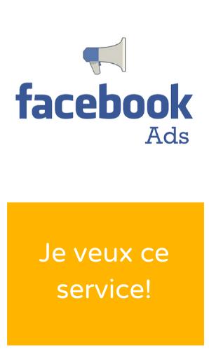 Bannière service Facebook Ads