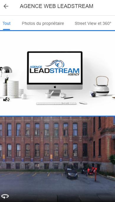 La section photo de l'agence Leadstream sur Google Mon entreprise