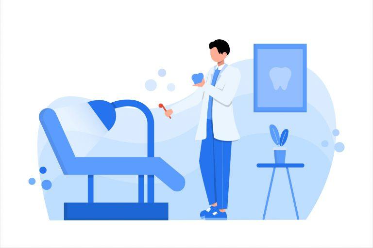 illustration of a dental clinic